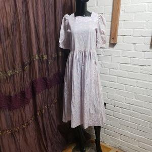 Vintage 80's laura Ashley Flowers Summer Tea Dress
